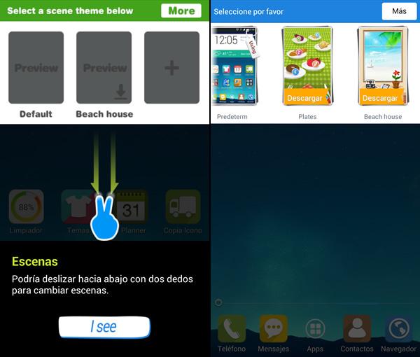 Mobolive, te permite personalizar tu android y aplicarle temas [Reseña] - mostrar-escenas-mobolive