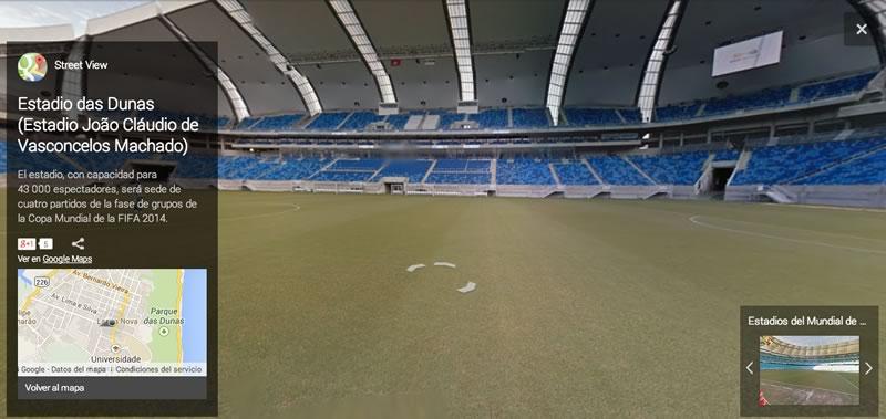 Visita los estadios del Mundial Brasil 2014 virtualmente - Estadio-das-Dunas