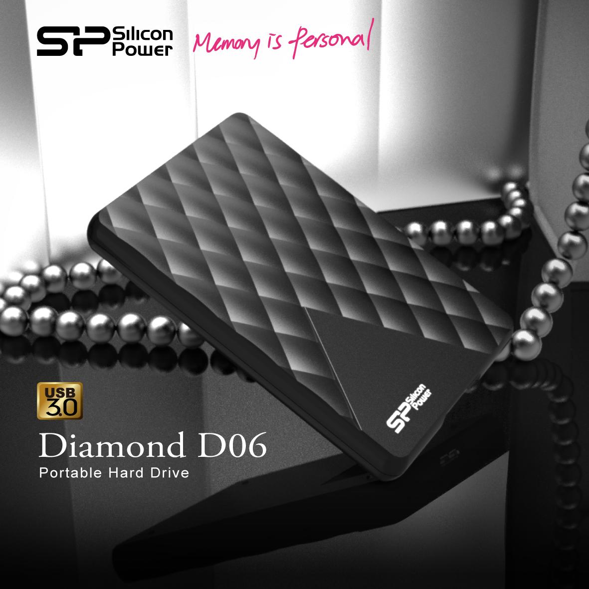 Silicon Power lanza el Diamond D06, un nuevo y rediseñado disco duro externo USB 3.0 - SPPR_Diamond-D06-Portable-Hard-Drive_KV