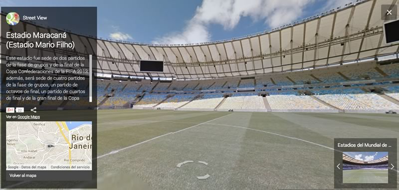 Visita los estadios del Mundial Brasil 2014 virtualmente - estadio-maracana-brasil-2014