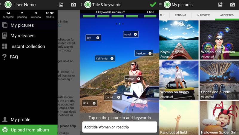 Vende las fotos que tomas con tu smartphone con Instant de Fotolia - instant-para-android
