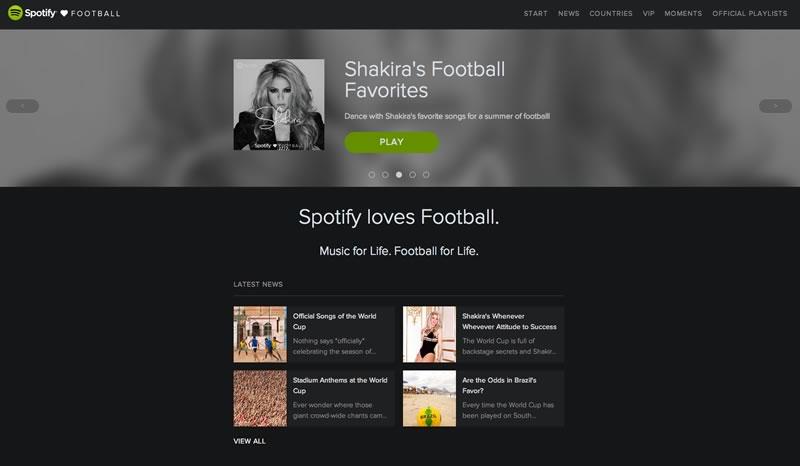La música del Mundial Brasil 2014 y más en 'Spotify Loves Football' - musica-del-mundial-shakira
