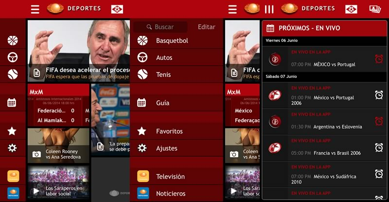 La app de Televisa Deportes se actualiza y añade un calendario de partidos en vivo desde la app - partidos-del-mundial-en-vivo-desde-la-app-televisadeportes