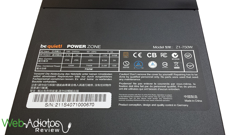 Be Quiet! Power Zone 750W [Reseña] - 103