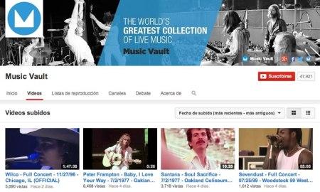 Disfruta de conciertos de rock completos en YouTube gracias a Music Vault