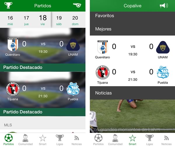 copalive futbol mexicano 5 apps para seguir el torneo apertura 2014 de la liga MX