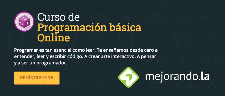 curso de programacion gratis mejorandola Curso de programación gratis en Mejorando.la celebrando su llegada a México ¡Inscríbete ya!