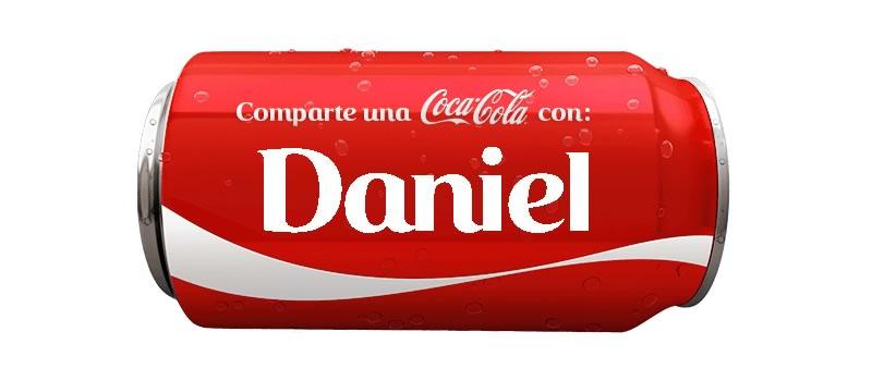 ¿Qué nombres aparecen en las latas de Coca Cola? ¡Aquí te decimos! - daniel-lata-coca-cola