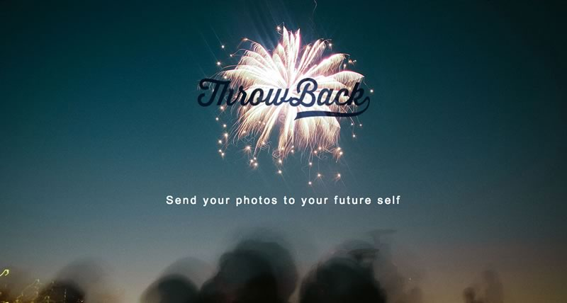 enviar fotos al futuro Envía tus fotos al futuro con ThrowBack para iPhone y Android