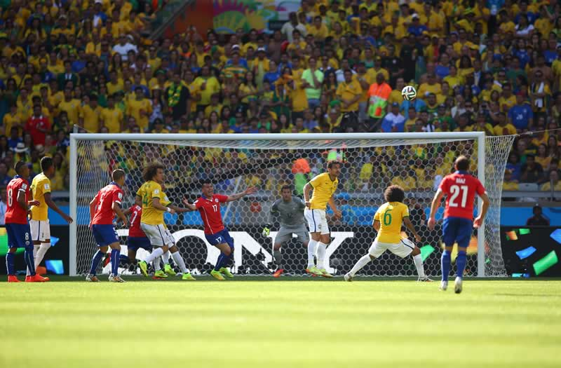 Revive los partidos de Octavos de final del Mundial 2014 - repeticion-brasil-vs-chile