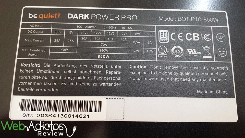 Be Quiet! Dark Power Pro 10 850W [Reseña] - 131