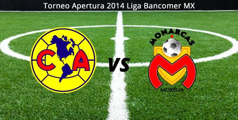 América vs Morelia, Jornada 5 del Apertura 2014 - America-vs-Morelia-en-vivo-Apertura-2014