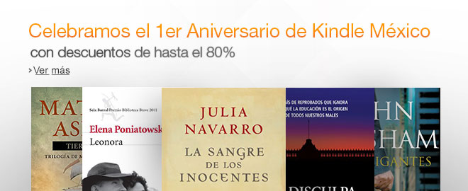 Amazon México cumple un año y lo celebra con ofertas en eBooks - Aniversario-Amazon-Mexico
