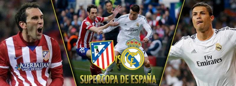 Atletico de Madrid vs Real Madrid Super Copa de Espana 2014 800x293 Atlético de Madrid vs Real Madrid, Super Copa de España 2014