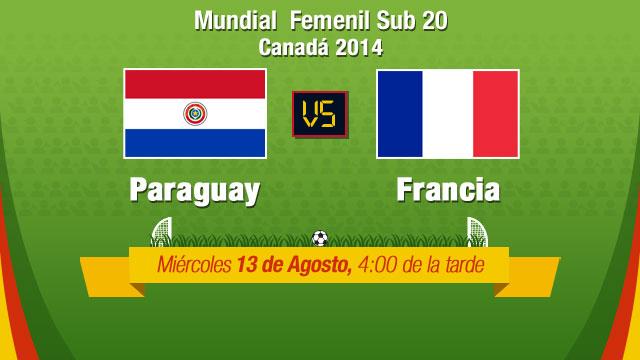 Paraguay vs Francia, Mundial Femenil Sub 20 - Paraguay-vs-Franca-en-vivo-Mundial-Femenil-Sub-20
