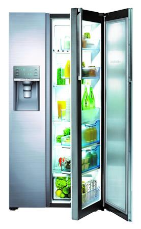 Nueva línea de refrigeradores y microondas Samsung - Refrigerador-Samsung-Food-ShowCase