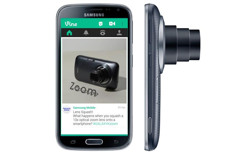 Samsung Galaxy K Zoom Vine Samsung GALAXY K Zoom: Cámara profesional y smartphone