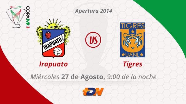Tigres vs Irapuato, Copa MX Apertura 2014 (Vuelta) - Tigres-vs-Irapuato-en-vivo-Copa-MX-Apertura-2014-Vuelta
