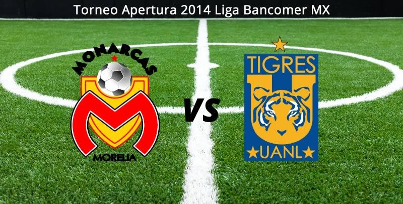 Tigres vs Morelia en vivo Apertura 2014 Tigres vs Morelia en la Jornada 6 del Apertura 2014