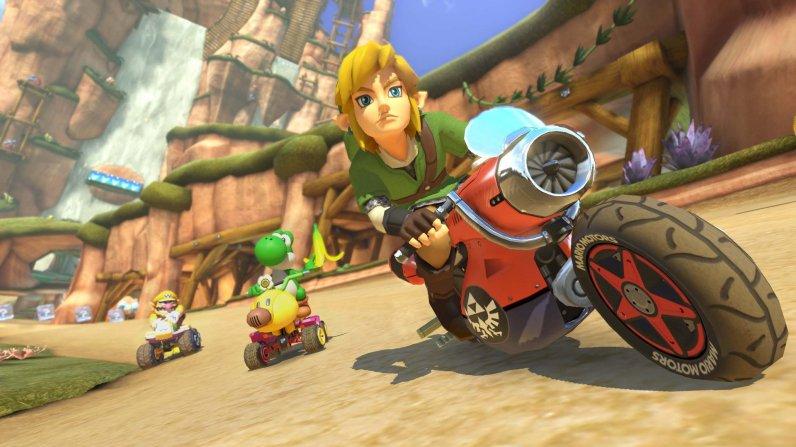 Link de The Legend of Zelda llega por primera vez a Mario Kart 8 como DLC - link-mario-kart-8