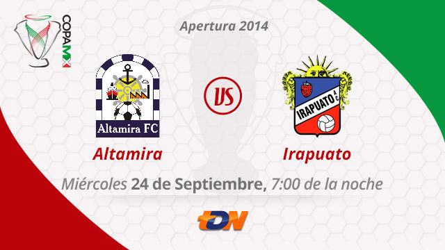Altamira vs Irapuato por internet, Copa MX Apertura 2014 (Vuelta) - Altamira-vs-Irapuato-en-vivo-Copa-MX-Apertura-2014-vuelta