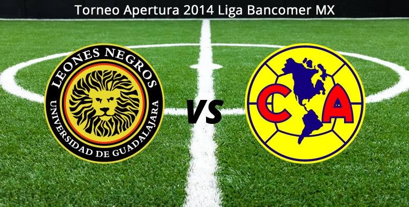 América vs Leones Negros UDG, Jornada 8 del Apertura 2014 - America-vs-Leones-Negros-UDG-en-vivo-Apertura-2014