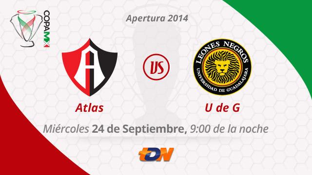 Atlas vs Leones Negros UDG por internet, Copa MX Apertura 2014 (Vuelta) - Atlas-vs-Leones-Negros-en-vivo-Copa-MX-Apertura-2014-vuelta