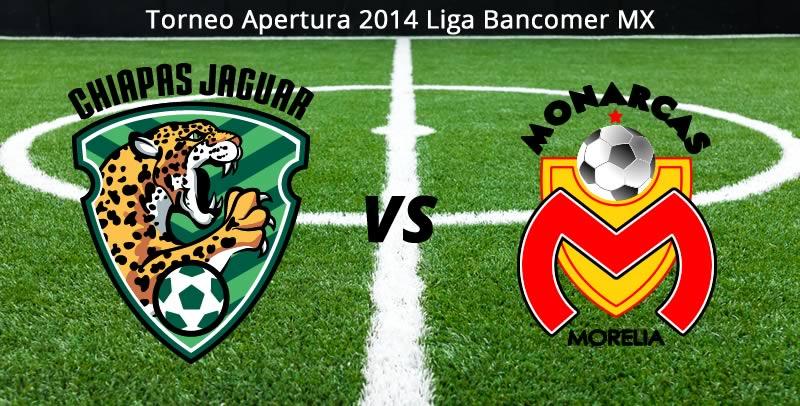 Chiapas vs Morelia en la Jornada 8 del Apertura 2014 - Chiapas-vs-Morelia-en-vivo-Apertura-2014