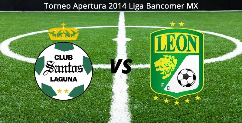 Santos vs León, Jornada 8 del Apertura 2014 - Santos-vs-Leon-en-vivo-Apertura-2014