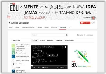 YouTube lanzó YouTube EDU en español con más de 22,000 videos educativos