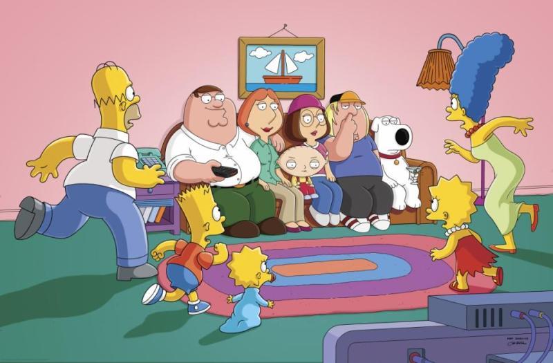 Los Simpson y Padre de Familia: El esperado encuentro - family-guy-simpsons-crossover-event-800x525