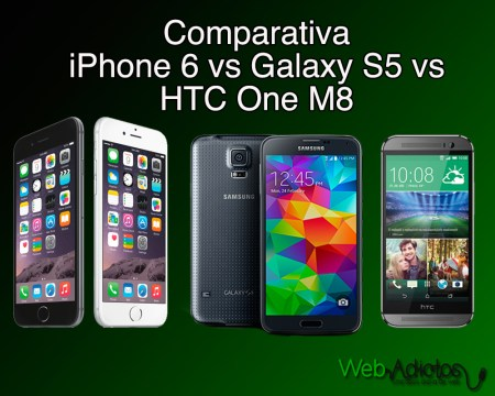 Comparativa iPhone 6 vs Samsung Galaxy S5 vs HTC One M8 vs Sony Xperia Z3