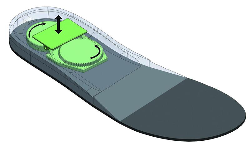 Captan energía de personas al caminar y las usan en pilas de reloj - piezoelectrico-en-diagrama