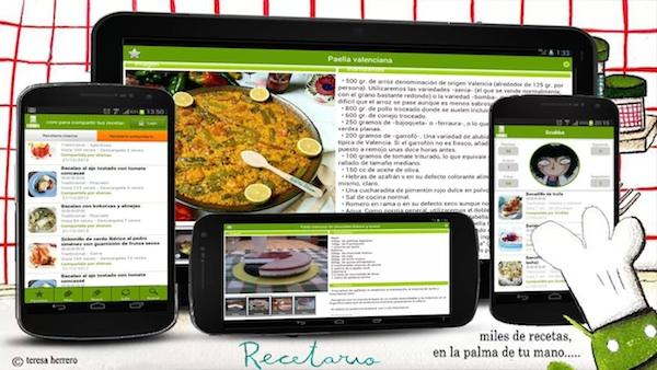 5 aplicaciones para cocinar como expertos en iOS y Android - recetario-android