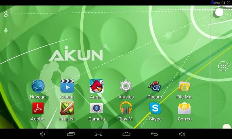 Tablet Aikun AT723C de Acteck, una tablet económica con Android KitKat - Aikun-AT723C-Android-Screen