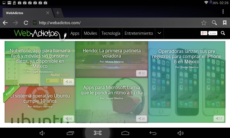 Tablet Aikun AT723C de Acteck, una tablet económica con Android KitKat - Aikun-AT723C-Navegador