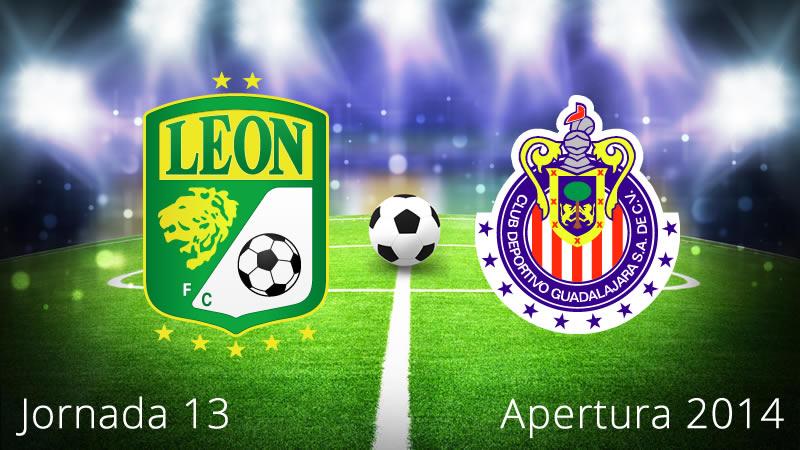 Chivas vs León, Jornada 13 Apertura 2014 - Chivas-vs-Leon-en-vivo-Apertura-2014