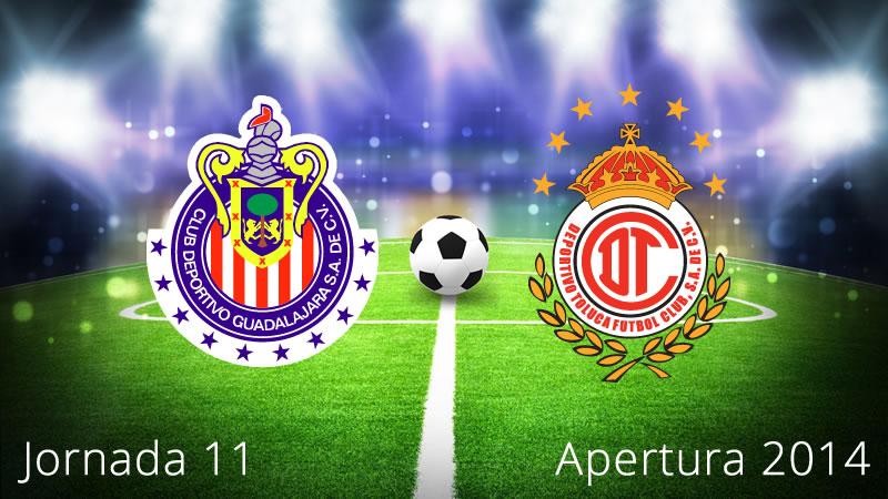 Chivas vs Toluca, Jornada 11 del Apertura 2014 - Chivas-vs-Toluca-en-vivo-Apertura-2014-Jornada-11