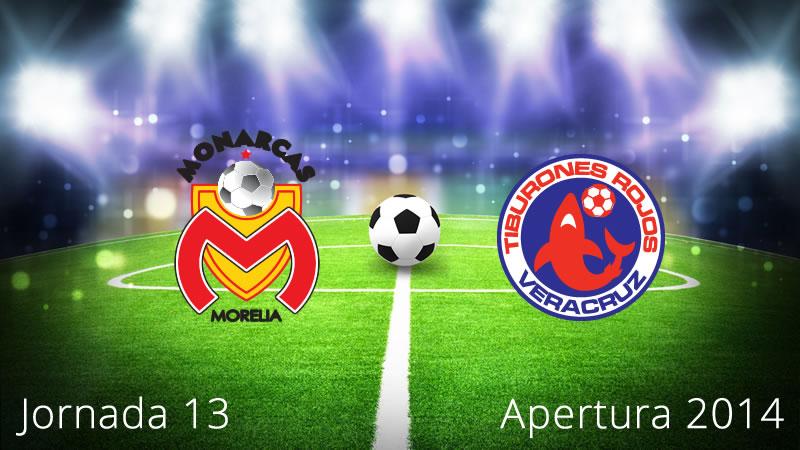 Morelia vs Veracruz, Jornada 13 Apertura 2014 - Morelia-vs-Veracruz-en-vivo-Apertura-2014