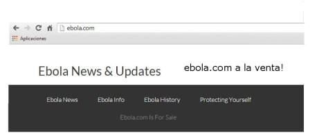 Pretenden vender dominio ebola.com a 150,000 dólares