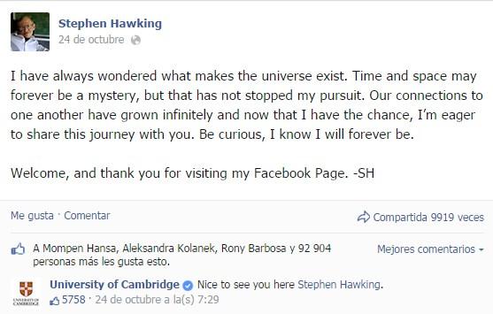Breve historia de Stephen Hawking - stephen-hawking-facebook