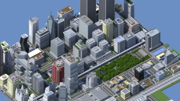 Titan City, la ciudad más espectacular hecha en Minecraft - titan-city-minecraft