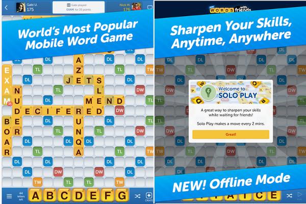 Lanzan Words With Friends en modo Offline - words-with-friends-offline