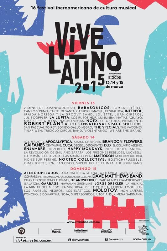 Presentan cartel del Festival Vive Latino 2015 - Cartel-Vive-Latino-2015