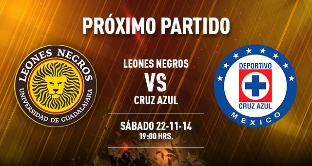 Cruz Azul vs Leones Negros, Jornada 17 del Torneo Apertura 2014 - Cruz-Azul-vs-Leones-Negros-en-vivo-Apertura-2014