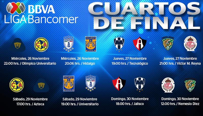 Conoce cómo quedó la liguilla del Apertura 2014 y sus horarios - Cuartos-de-final-Liguilla-Apertura-2014