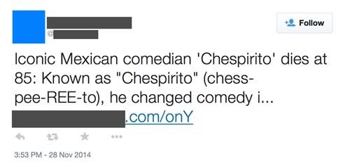 La muerte de Chespirito es usada para propagar malware - Muerte-Chespirito-Malware