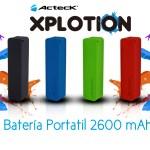 Baterías Portátiles Acteck XPLOTION, atractivas, divertidas y muy útiles - PB-200Acteck-Xplotion