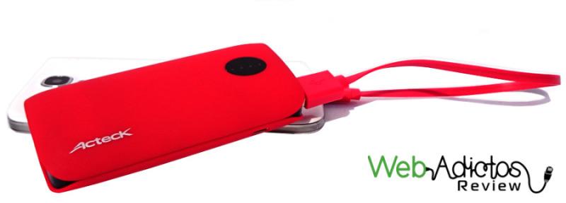 Baterías Portátiles Acteck XPLOTION, atractivas, divertidas y muy útiles - Power-bank-Xplotion-de-Acteck-PB400-roja-e1416510979196