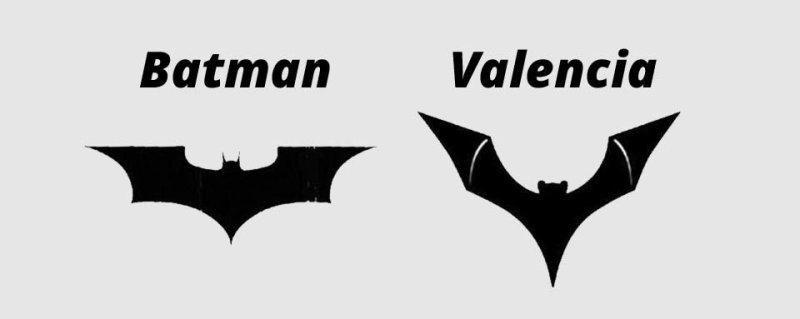 Valencia CF causa molestia de DC Comics por el uso de un logo similar al de Batman - batman-valencia-800x319